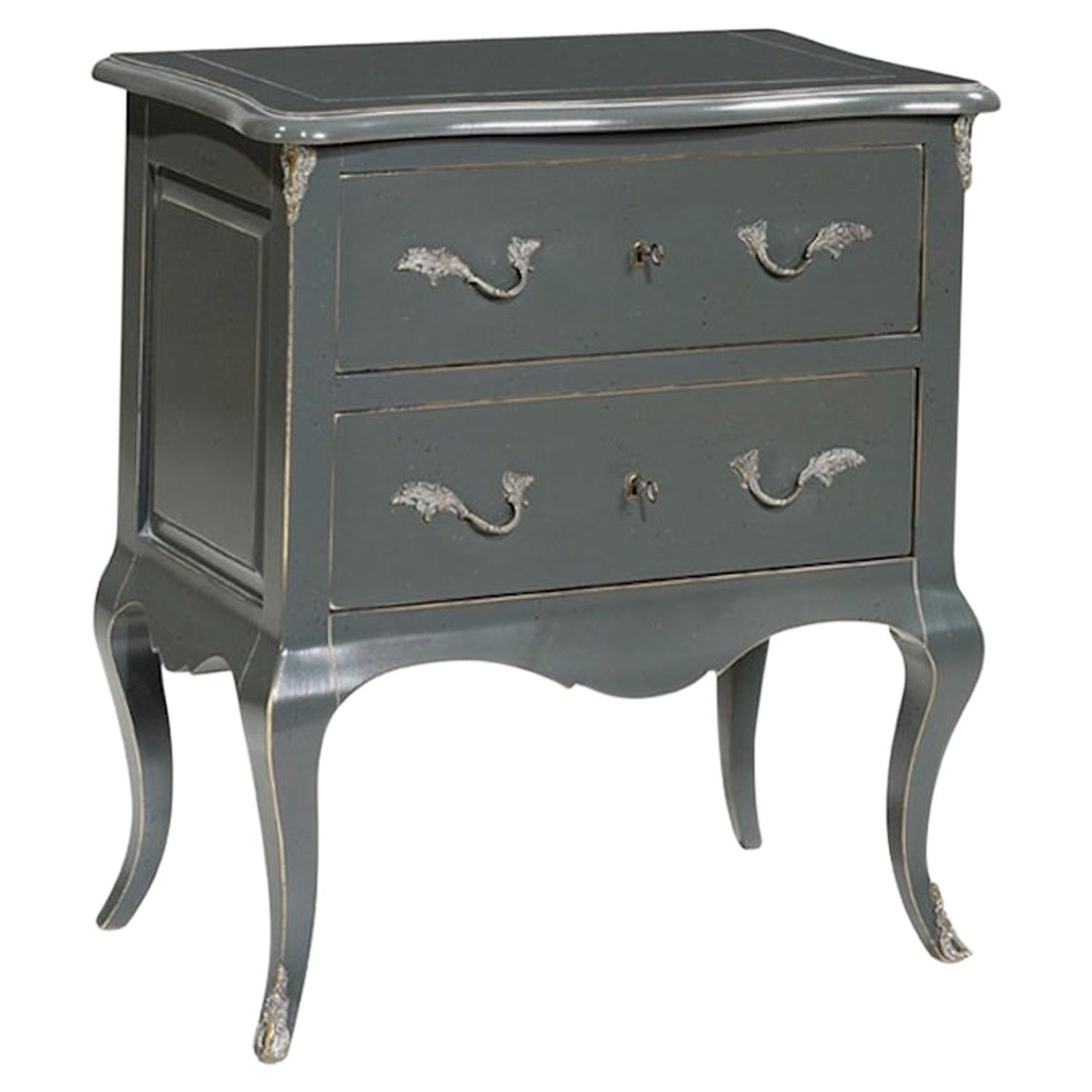 French Fleur Bedside Table, 20th Century