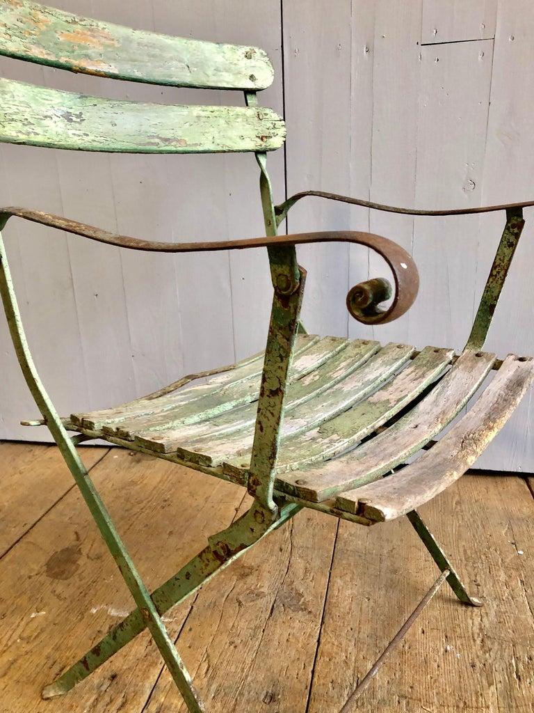 French Folding Garden Chair, 19th Century For Sale 5