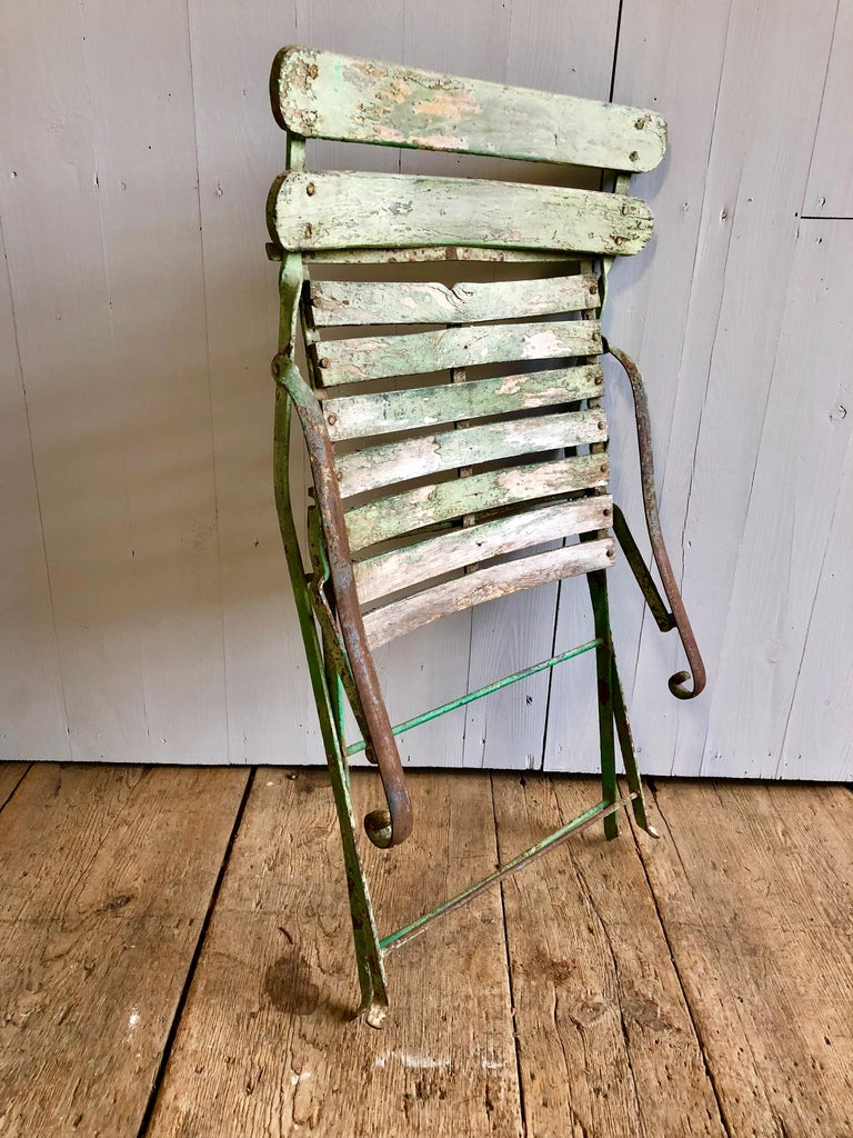 French Folding Garden Chair, 19th Century For Sale 6