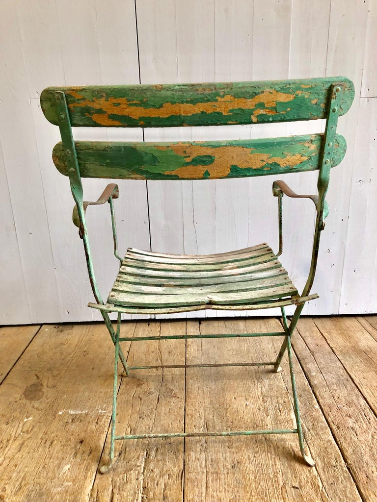 French Folding Garden Chair, 19th Century For Sale 1