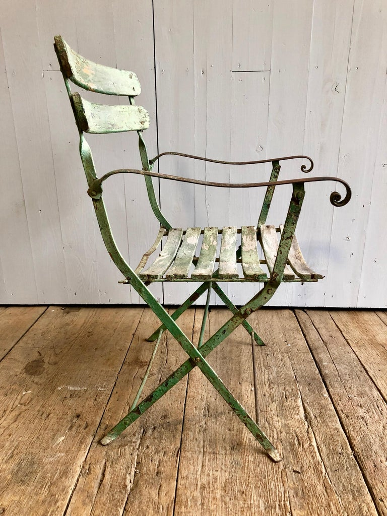 French Folding Garden Chair, 19th Century For Sale 2
