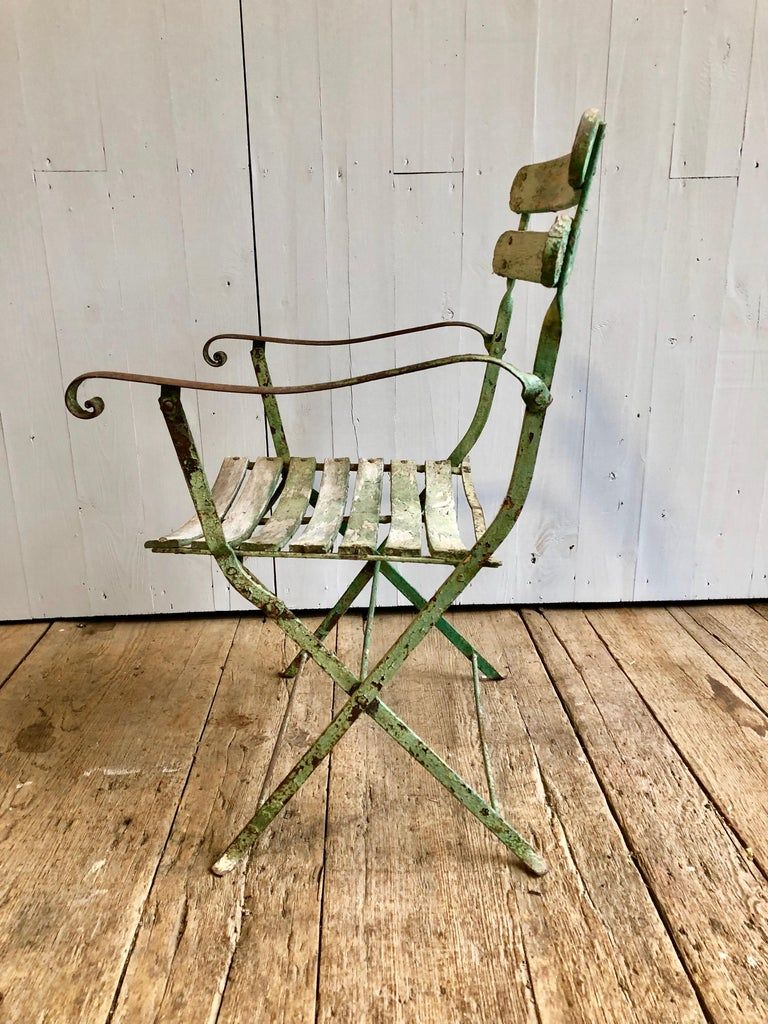 French Folding Garden Chair, 19th Century For Sale 3