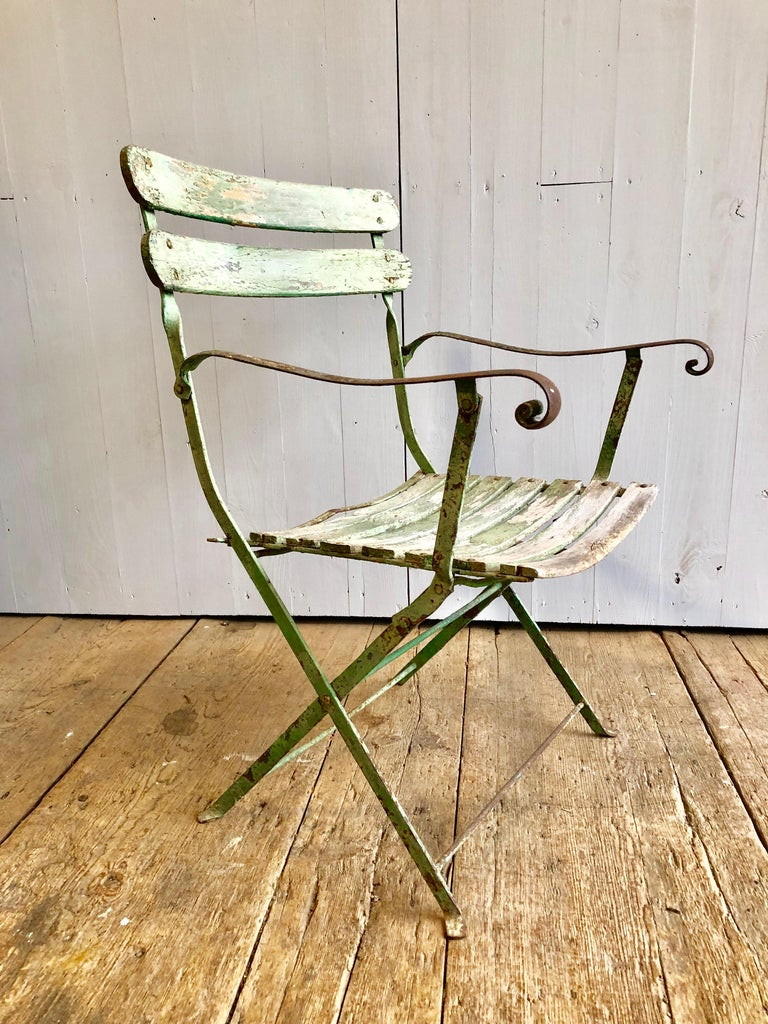 French Folding Garden Chair, 19th Century For Sale 4