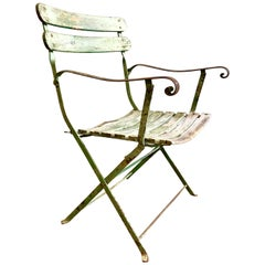 French Folding Garden Chair, 19th Century