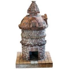 French Folk Art Terracotta Birdhouse