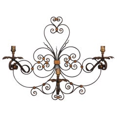 French Forged Iron Sconce, 1940s
