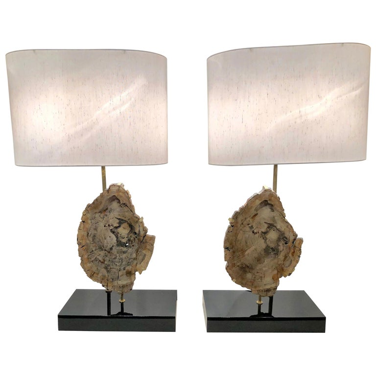 French Fossil Lampas by Jansen For Sale