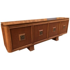 French Four Doors Bronze Buffet in the Style of Maxime Old, 1940s