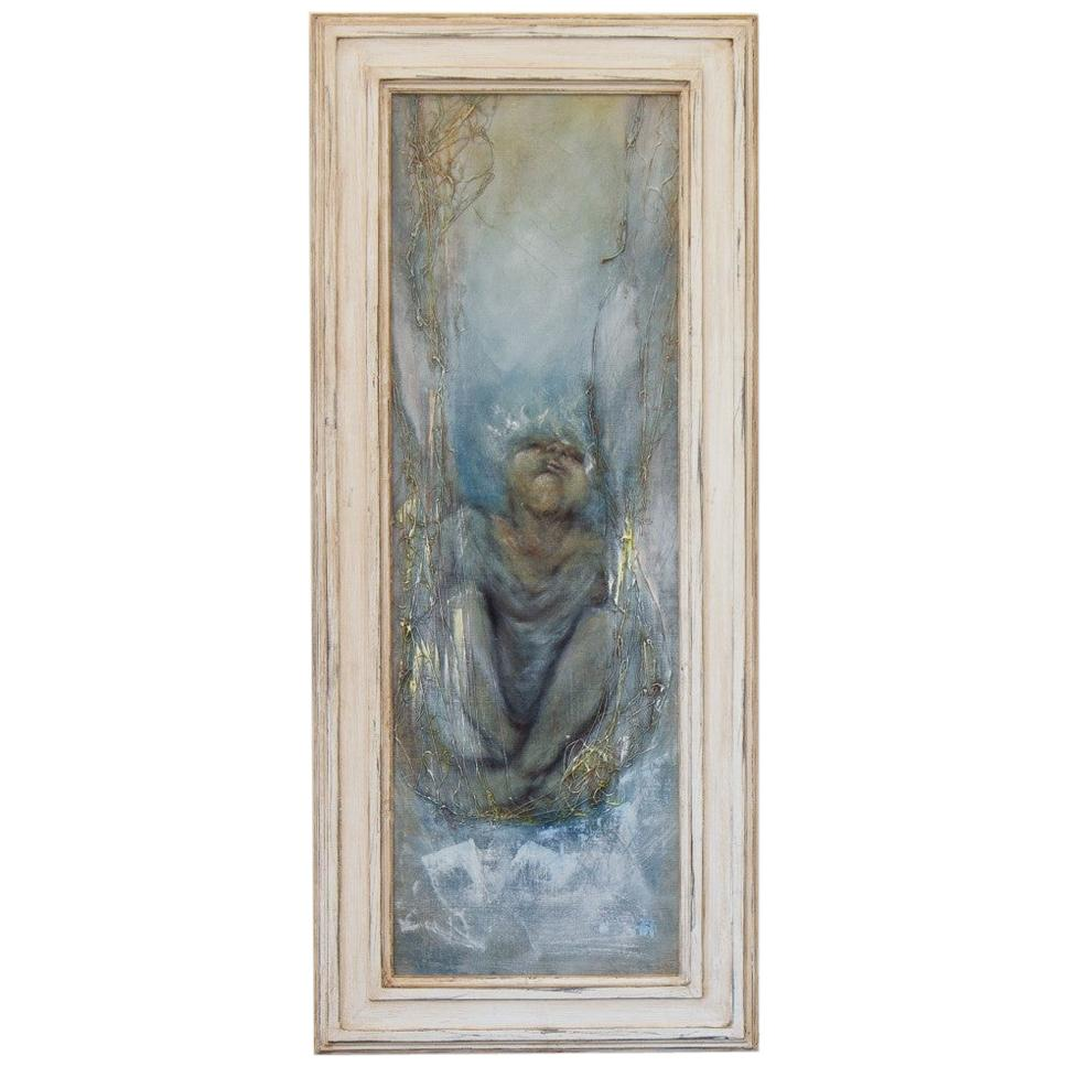 French Framed Painting by Micky Pfau, 1997