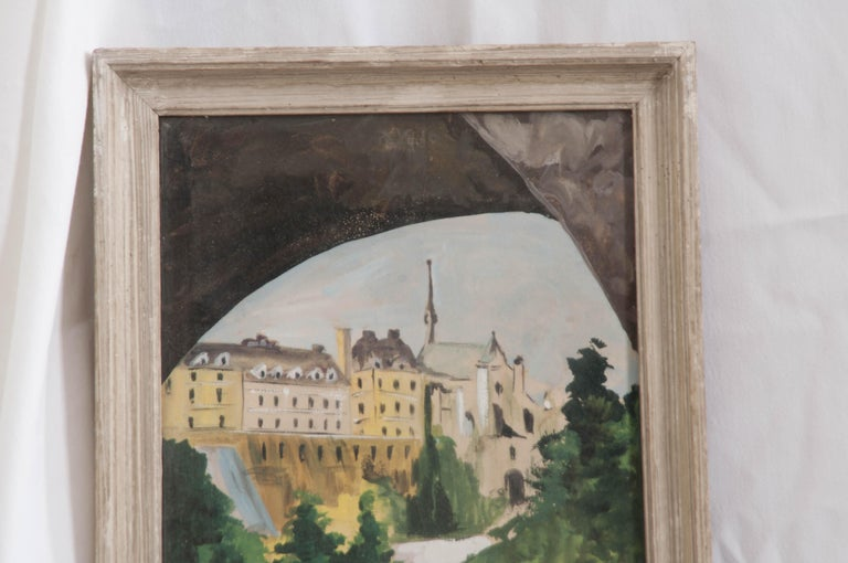Neoclassical French Framed Painting For Sale