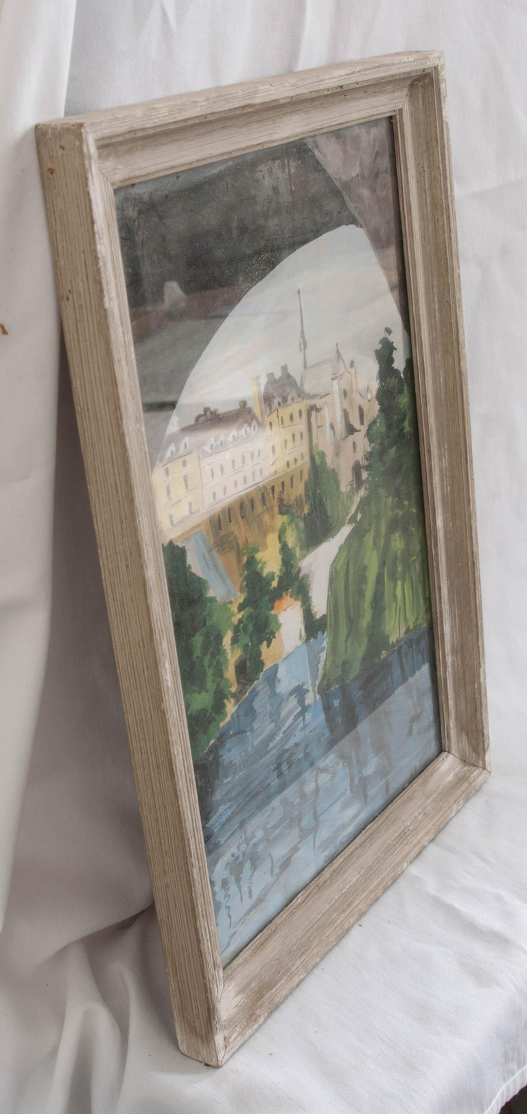 French Framed Painting In Good Condition For Sale In Baton Rouge, LA