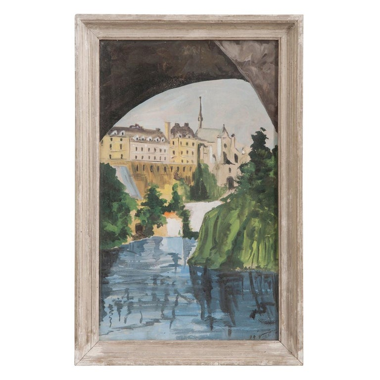 French Framed Painting For Sale