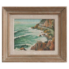 French Framed Painting of Oceanview