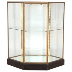 French Freestanding Brass Display Cabinet
