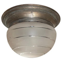 French Frosted Glass Light Fixture