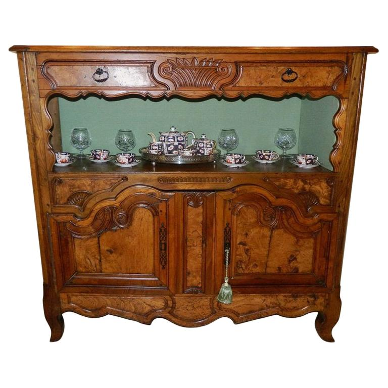 French Fruitwood Buffet or Sideboard, 19th Century