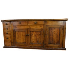 French Fruitwood Work Table or Sideboard, circa 1780