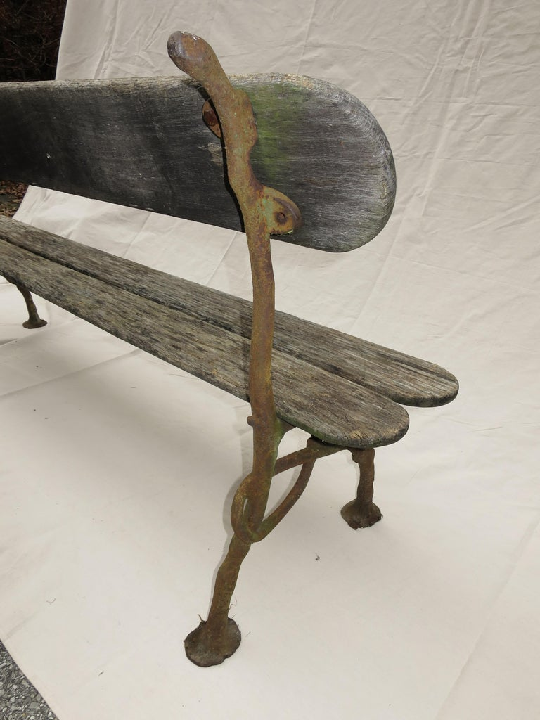 French Garden Bench, 19th Century For Sale 1