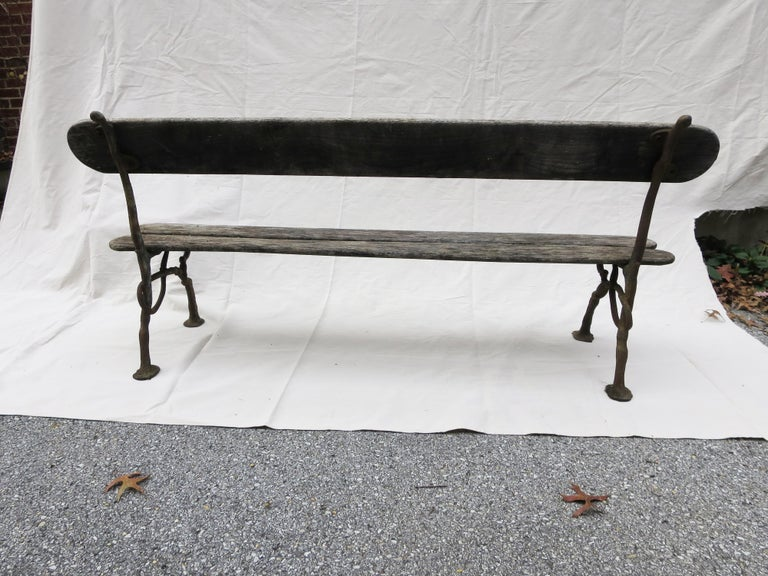 French Garden Bench, 19th Century For Sale 5