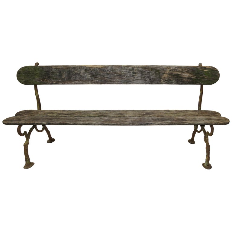 French Garden Bench, 19th Century For Sale