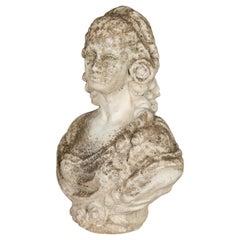 French Garden Statue Bust