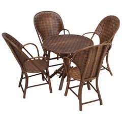 French Garden Table with '4' Matching Very Comfortable Armchairs