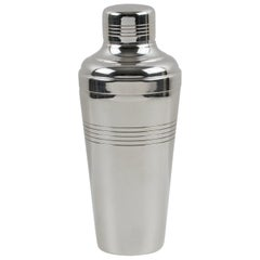 French Gelb Art Deco Silver Plate Cocktail Shaker