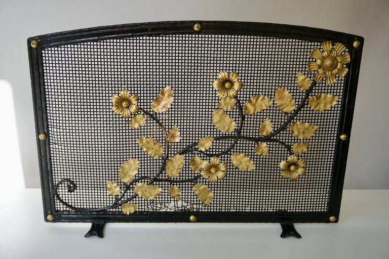 Gilt French Gild Fire Screen For Sale