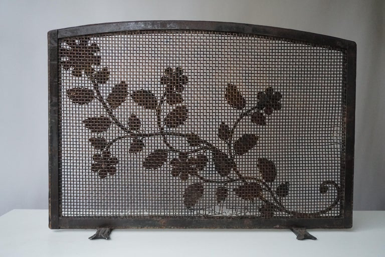 French Gild Fire Screen In Good Condition For Sale In Antwerp, BE