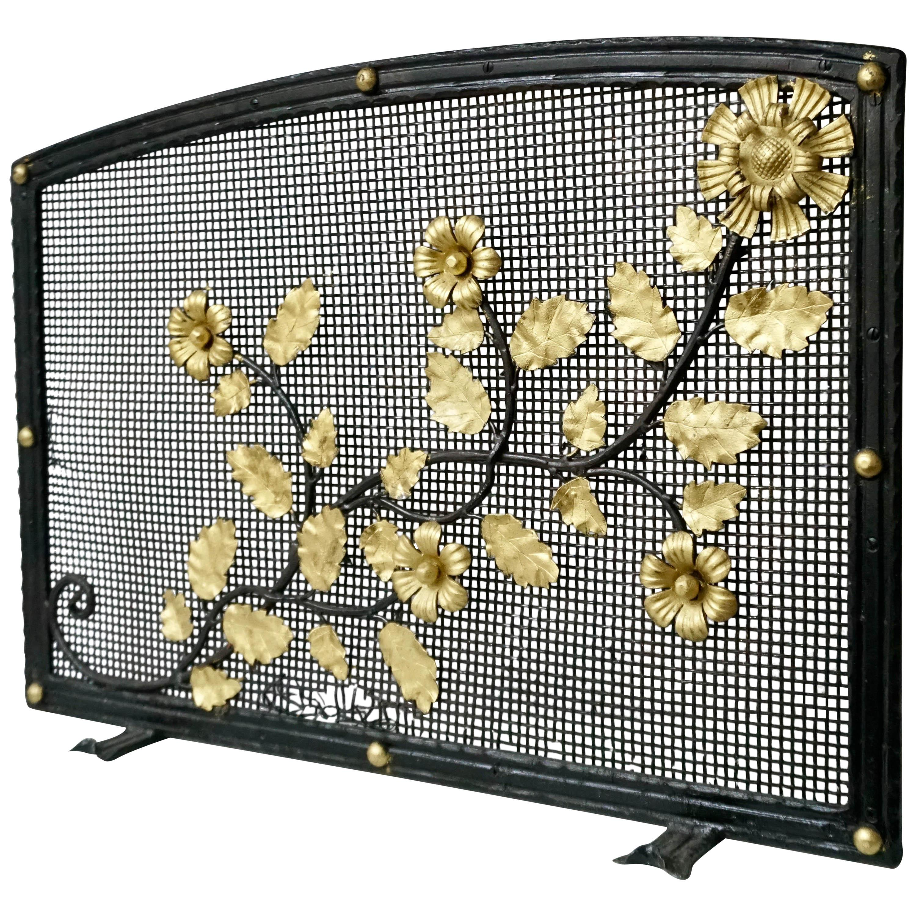 French Gild Fire Screen