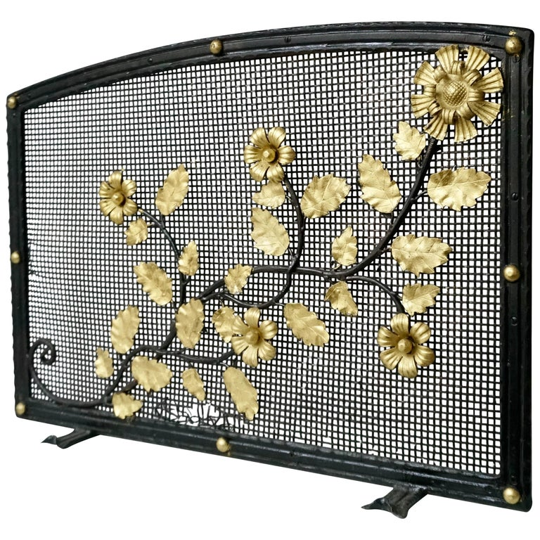 French Gild Fire Screen For Sale