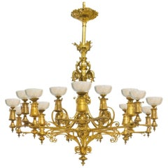 French Gilt Bronze Chandelier