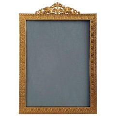 French Gilded Bronze Photo Frame
