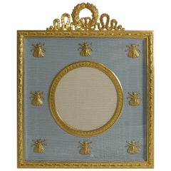 French Gilded Bronze Photograph / Picture Frame, Napoleonic Bees