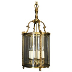 French Gilded Bronze Six-Light Antique Lantern