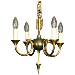 French Gilded Empire 4-Light Chandelier