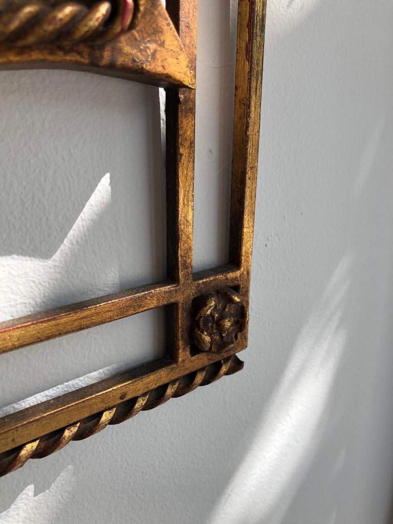 French Gilded Iron Mirror For Sale 2