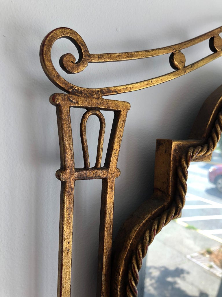 French Gilded Iron Mirror For Sale 3