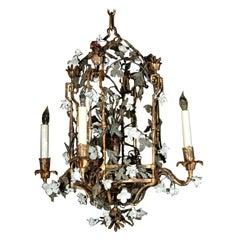 French Gilt and Porcelain Lantern