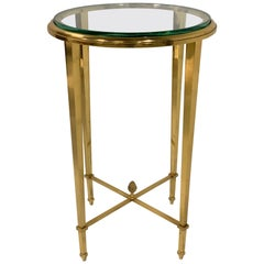 French Gilt Bronze and Glass Guéridon Table