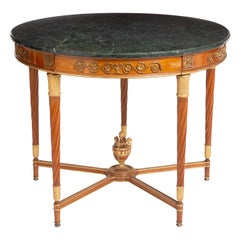 French Gilt Bronze Mounted Fruitwood Center Table, circa 1900