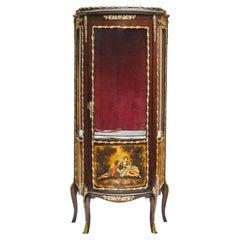 French Gilt Bronze Mounted Mahogany Vitrine Cabinet