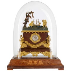 French Gilt Bronze Mounted Marine Themed Automaton Mantel Clock