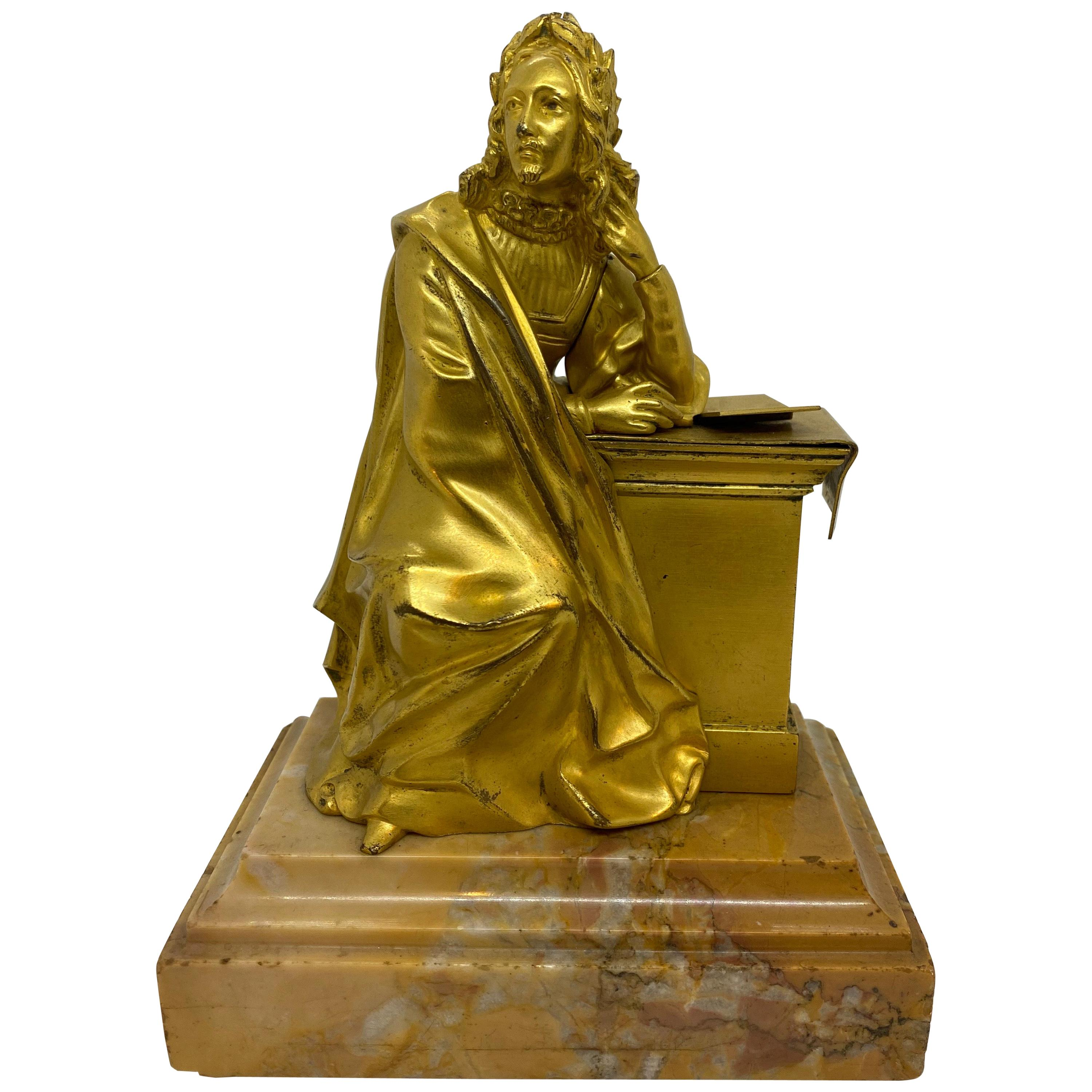 French Gilt Bronze Seated Figure