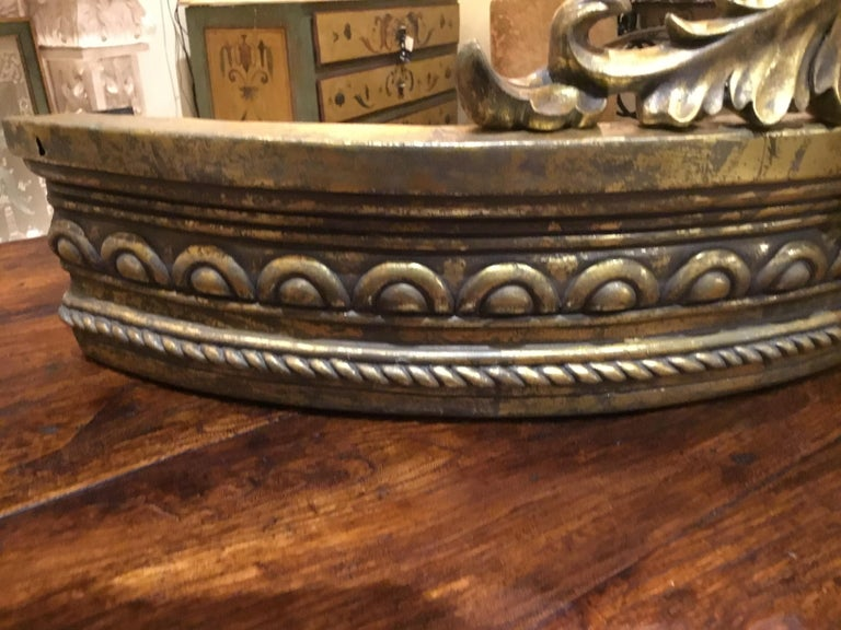 Louis XV French Gilt Carved Crown/Canopy, with Foliate and Spiral Twists