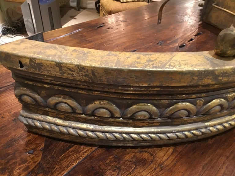 20th Century French Gilt Carved Crown/Canopy, with Foliate and Spiral Twists