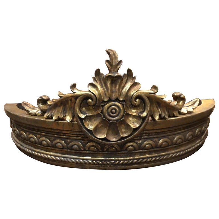 French Gilt Carved Crown/Canopy, with Foliate and Spiral Twists