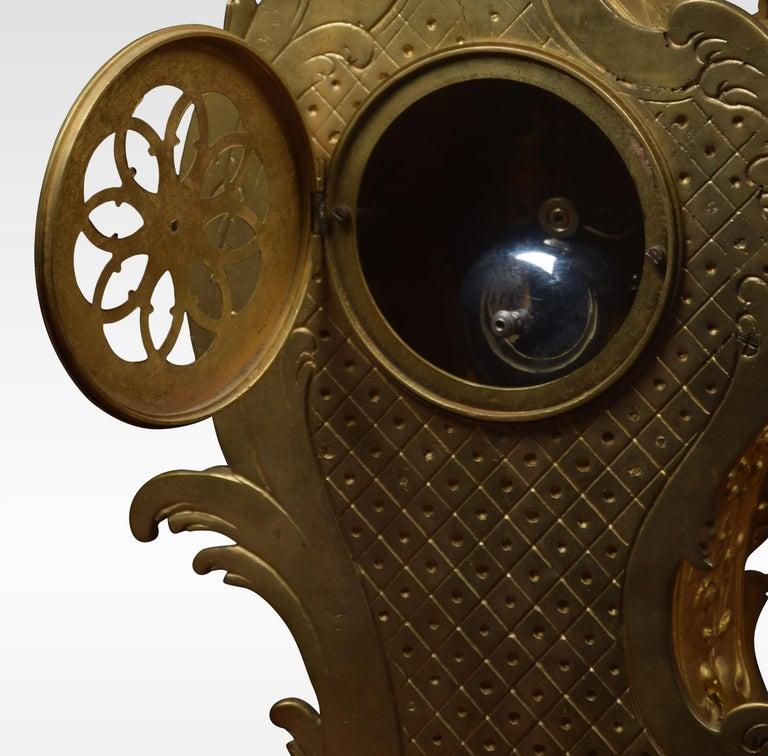 French Gilt Metal Mantel Clock 5