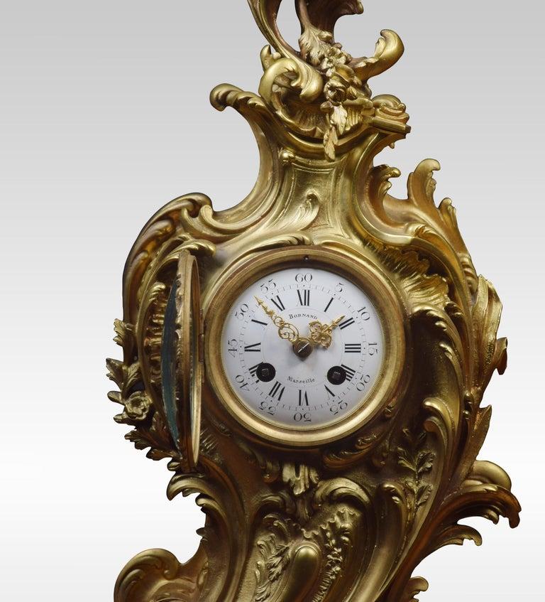Ormolu French Gilt Metal Mantel Clock