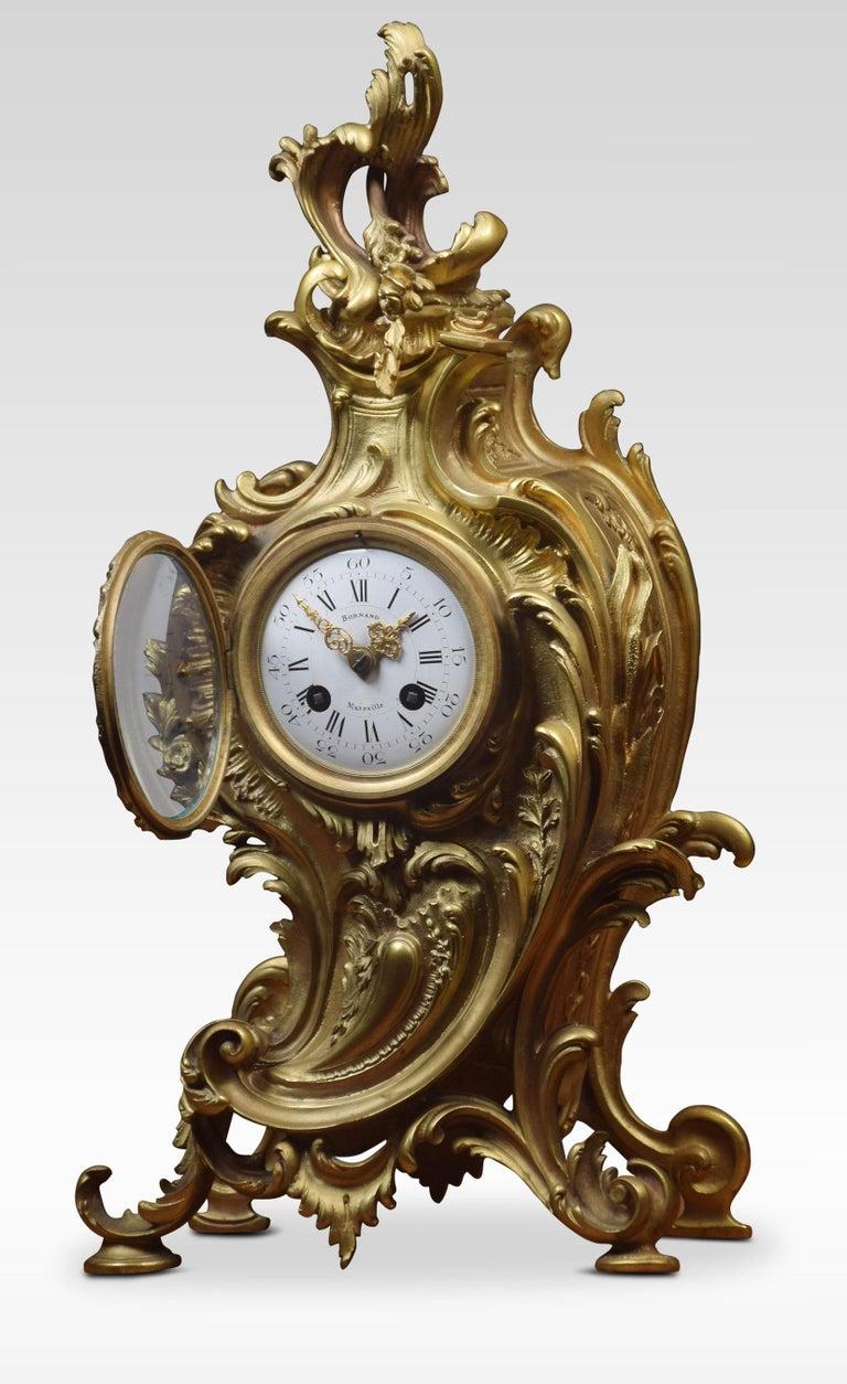 French Gilt Metal Mantel Clock 1